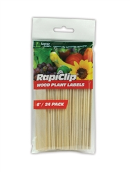 Luster Leaf Wood Plant Labels 6""